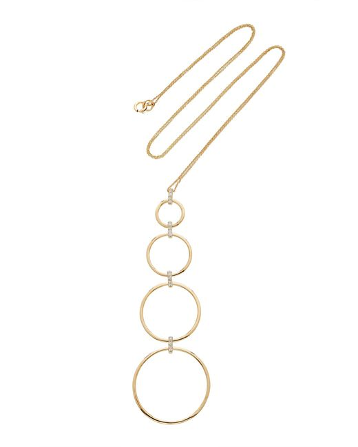 Mateo | Metallic 14k Gold 4 Tier Circle & Diamond Necklace | Lyst