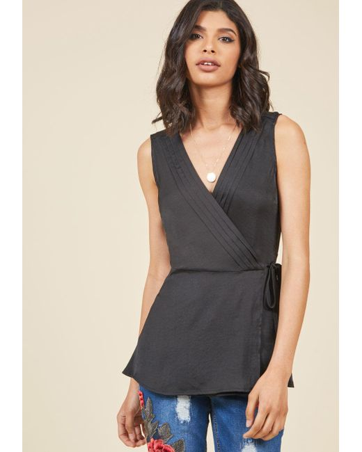 ModCloth | Black Mind Your Answers Tank Top | Lyst
