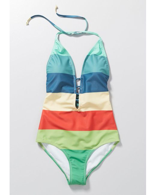 1a7ab68e9f ... ModCloth - Blue The Tereza One-piece Swimsuit - Lyst ...