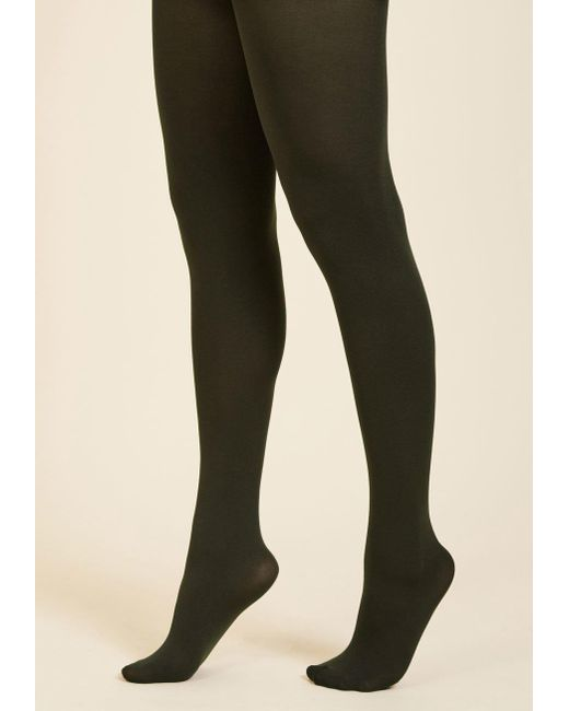 ModCloth - Green Accent Your Ensemble Tights - Lyst