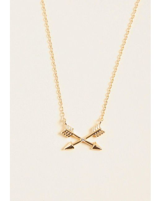 ModCloth - Metallic On-target Accessory Pendant Necklace - Lyst