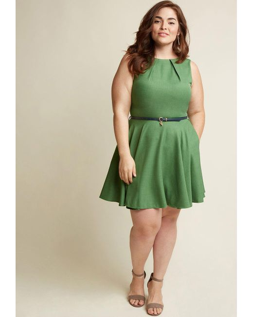 ModCloth | Green Luck Be A Lady A-line Dress In Fern | Lyst