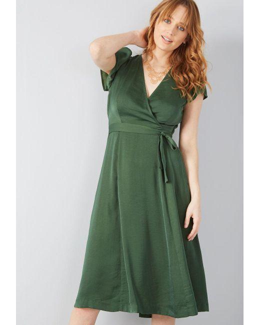 77158f39fa6 ModCloth - Green Affirmed Appeal A-line Midi Dress - Lyst ...