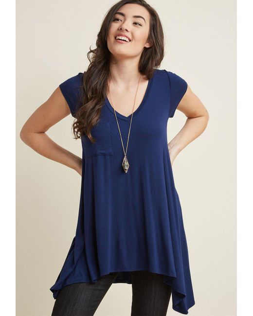 ModCloth - Blue A Crush On Casual Tunic - Lyst