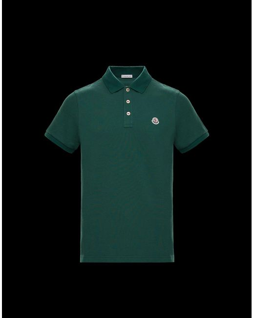9b83d7f04d09 Moncler Polo in Green for Men - Lyst