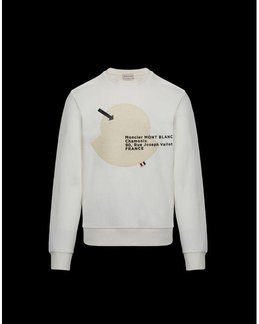 0ca1e898b Lyst - Moncler Sweatshirt in White for Men
