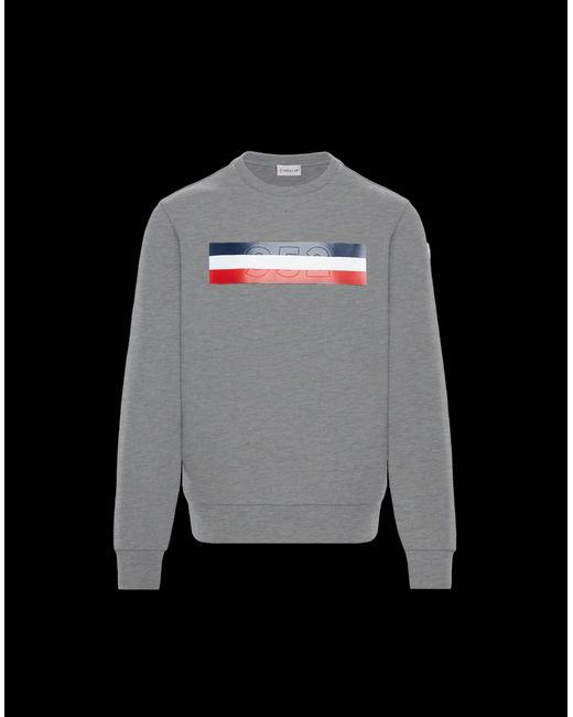 c5e4a9ae3 Moncler Sweatshirt in Gray for Men - Lyst