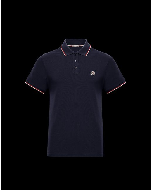 68ee43f5ba68 Moncler Polo Shirt in Blue for Men - Lyst