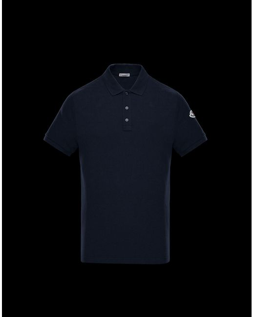 1be70f12b Moncler Polo Shirt in Blue for Men - Lyst