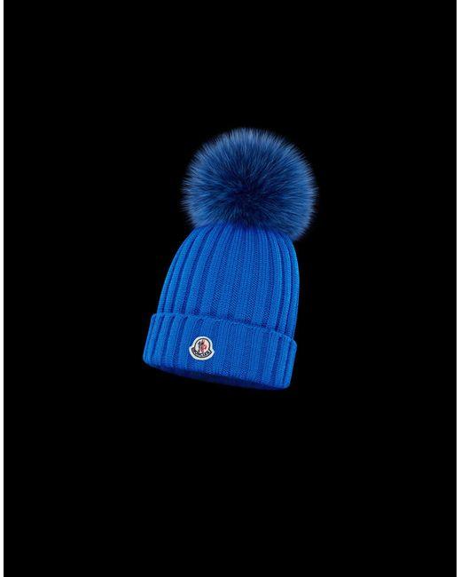 Moncler - Blue Hat - Lyst ... c31579d215e