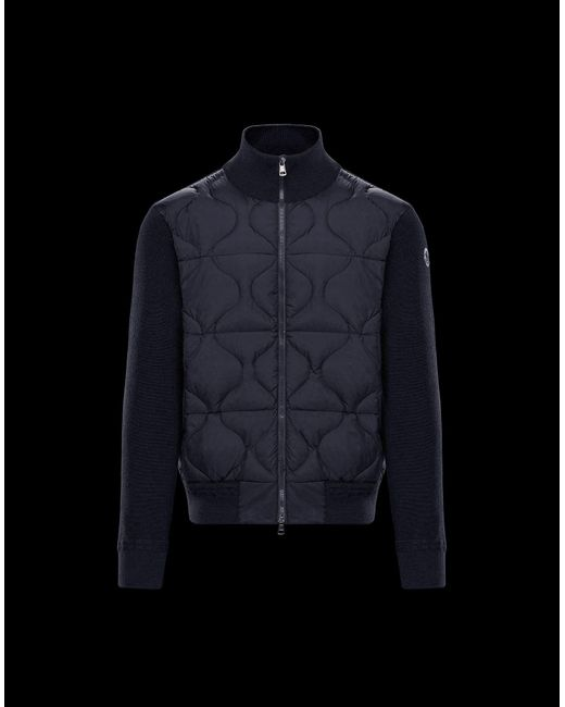 453aa6cc2e23 Moncler Cardigan in Blue for Men - Lyst