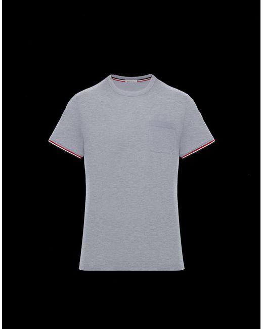 629495e02 Moncler - Gray T-shirt for Men - Lyst ...