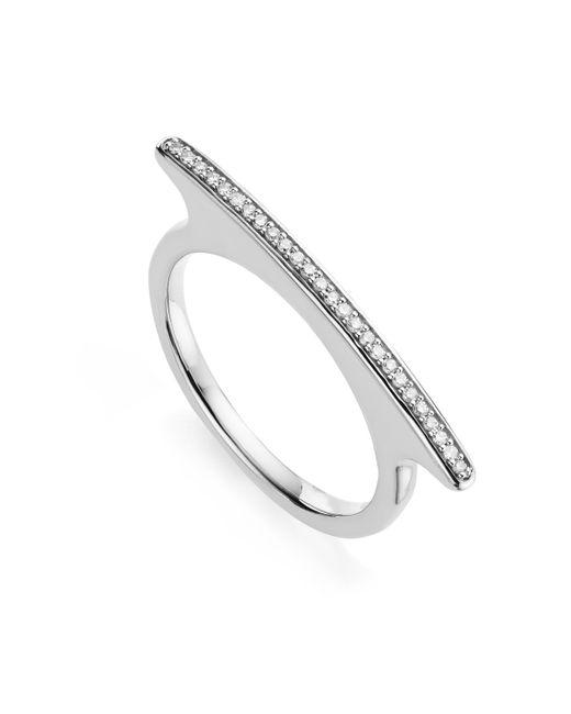 Monica Vinader | Metallic Skinny Long Bar Ring | Lyst