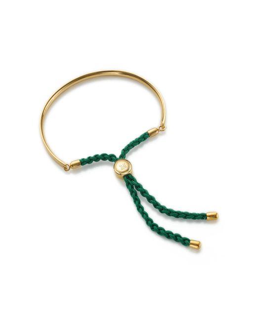 Monica Vinader | Green Fiji Friendship Bracelet | Lyst