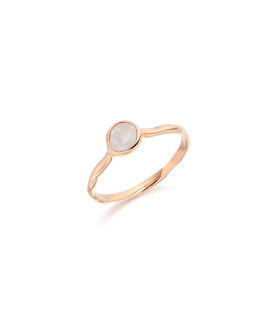 Monica Vinader | Pink Siren Small Stacking Ring | Lyst