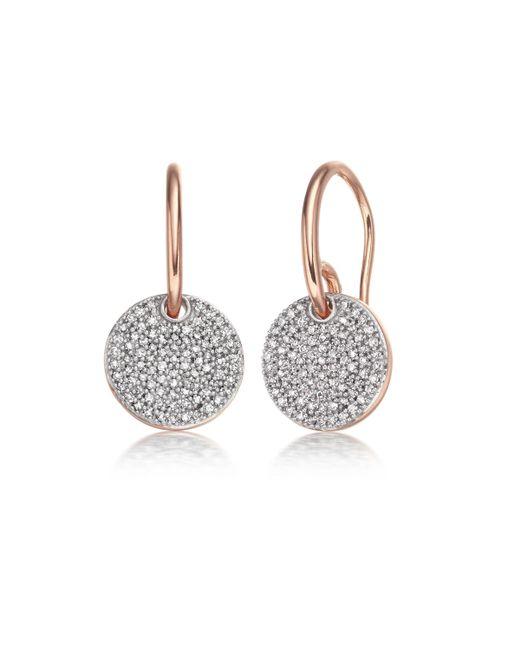 Monica Vinader | Pink Ava Disc Drop Earrings | Lyst
