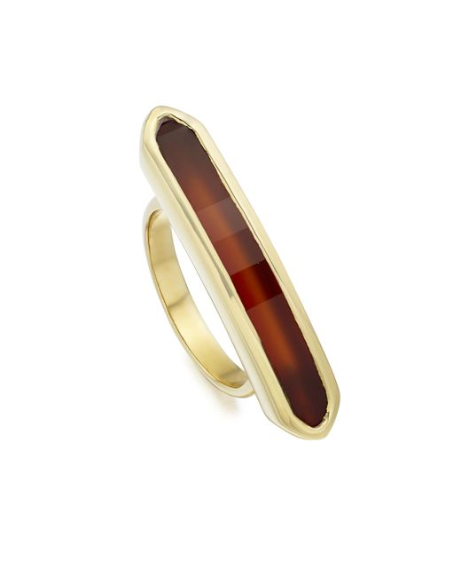 Monica Vinader | Red Baja Long Ring | Lyst