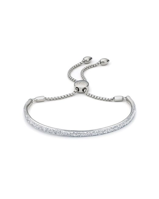 Monica Vinader | Metallic Fiji Diamond Bar Bracelet | Lyst