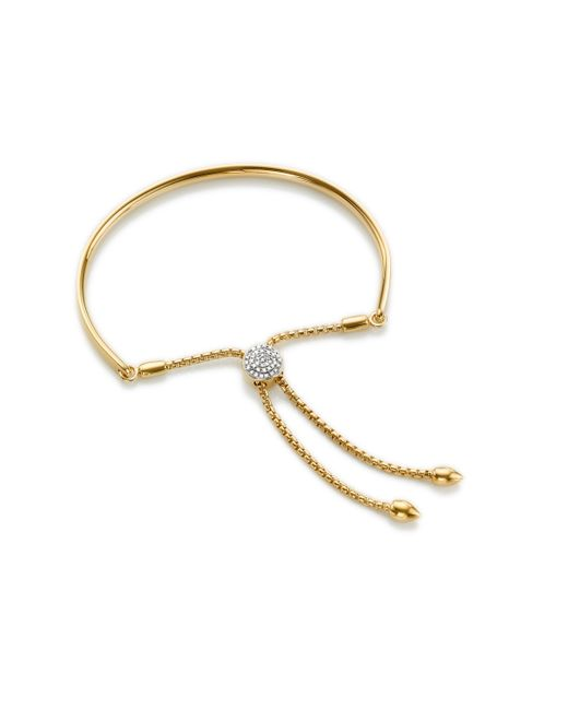 Monica Vinader | Metallic Fiji Diamond Toggle Bracelet | Lyst
