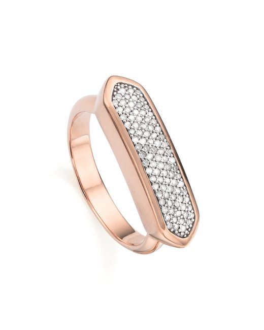 Monica Vinader | Pink Baja Diamond Ring | Lyst