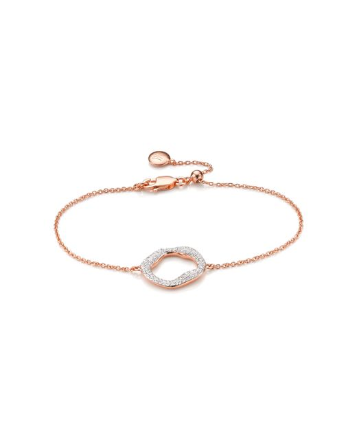 Monica Vinader | Metallic Riva Diamond Circle Chain Bracelet | Lyst