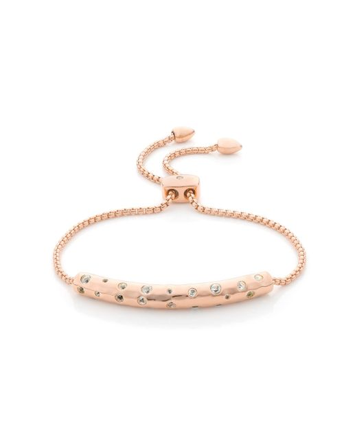 Monica Vinader | Metallic Esencia Scatter Chain Bracelet | Lyst
