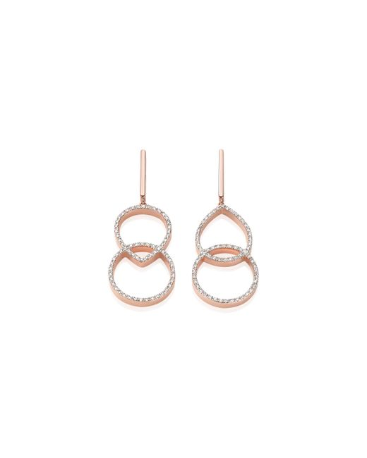 Monica Vinader | Pink Naida Kiss Open Cocktail Earrings | Lyst