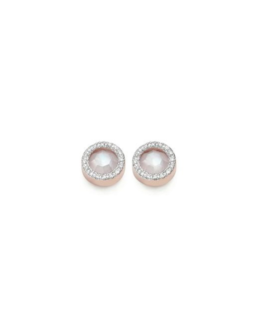 Monica Vinader | Pink Naida Circle Stud Earrings | Lyst