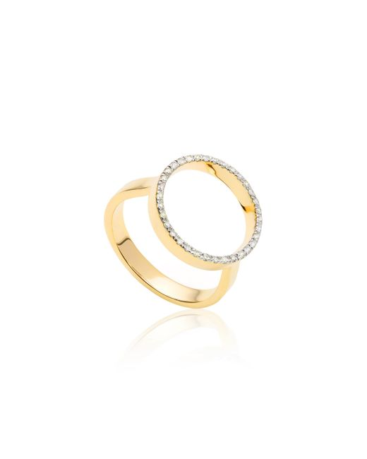 Monica Vinader | Metallic Naida Circle Open Ring | Lyst