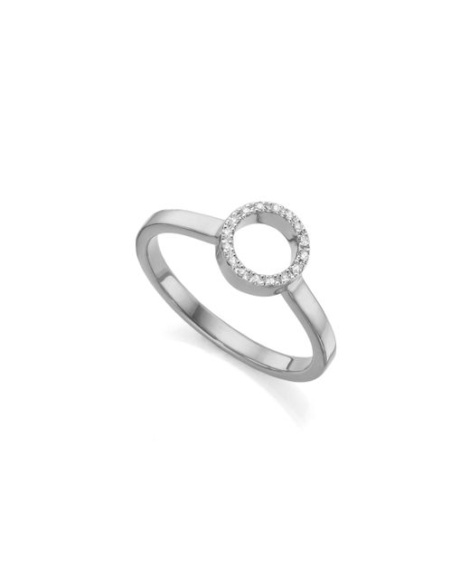 Monica Vinader | Metallic Naida Mini Circle Open Ring | Lyst