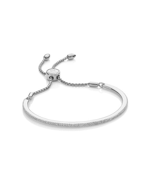 Monica Vinader - Metallic Fiji Skinny Bar Friendship Chain Bracelet - Lyst