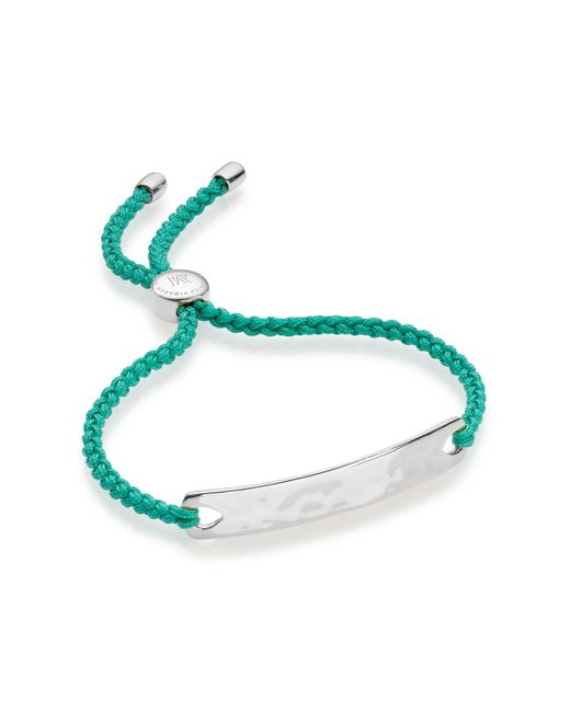 Monica Vinader | Green Linear Friendship Bracelet | Lyst