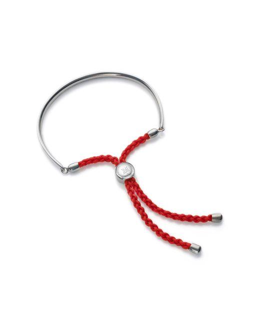 Monica Vinader | Red Fiji Sterling Silver Friendship Bracelet | Lyst