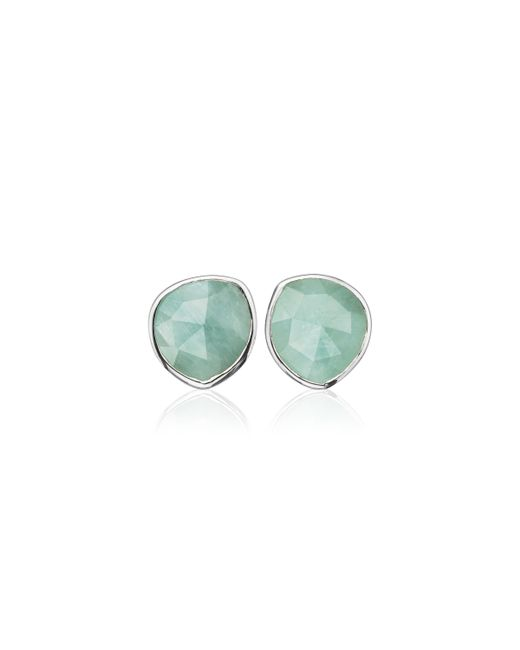Monica Vinader | Metallic Siren Stud Earrings | Lyst