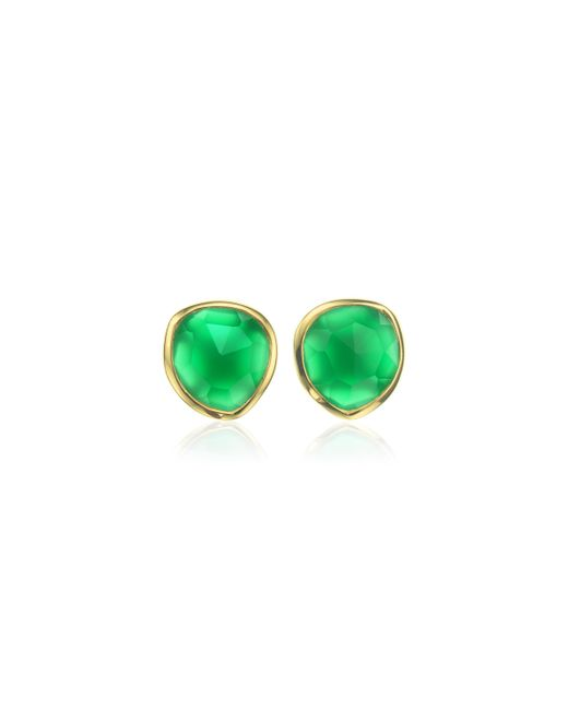 Monica Vinader | Green Siren Stud Earrings | Lyst
