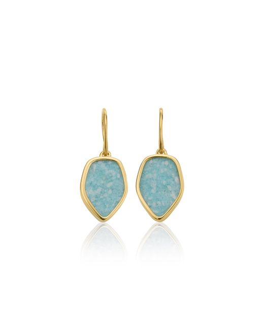 Monica Vinader | Metallic Atlantis Flint Drop Earrings | Lyst