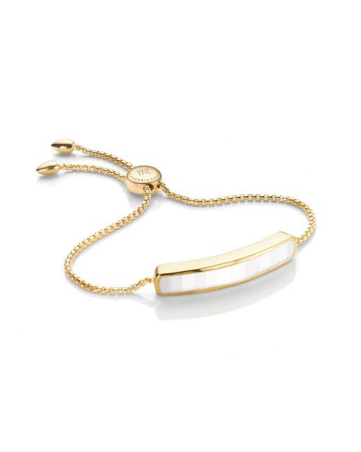 Monica Vinader | White Baja Bracelet | Lyst