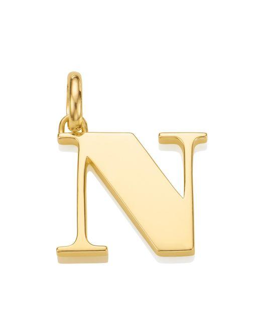 Monica Vinader | Metallic Alphabet Pendant N | Lyst