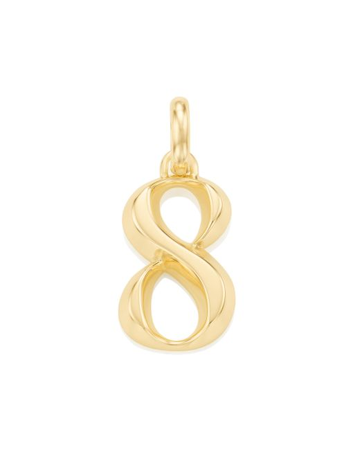 Monica Vinader | Metallic Alphabet Pendant Number 8 | Lyst