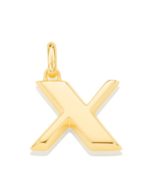 Monica Vinader   Metallic Alphabet Pendant X   Lyst