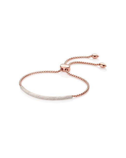 Monica Vinader | White Stellar Diamond Mini Bar Bracelet | Lyst
