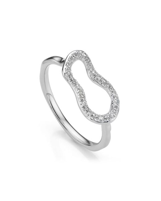 Monica Vinader - Metallic Riva Mini Pod Ring - Lyst