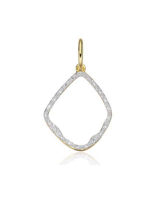 Monica Vinader - Metallic Riva Diamond Hoop Pendant - Lyst