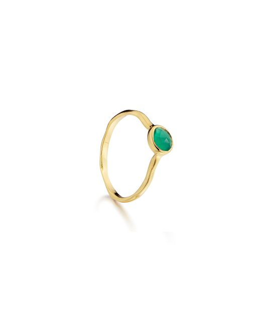 Monica Vinader - Green Siren Small Stacking Ring - Lyst