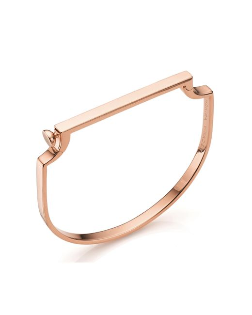 Monica Vinader - Multicolor Signature 18ct Rose Gold-plated Bangle - Lyst