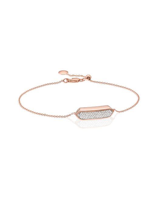 Monica Vinader - Pink Baja Mini Bracelet - Diamond - Lyst