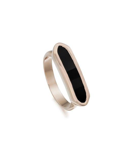 Monica Vinader - Black Baja Ring - Lyst