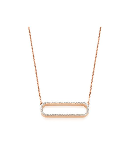 Monica Vinader | Pink Naida Rectangle Open Necklace | Lyst