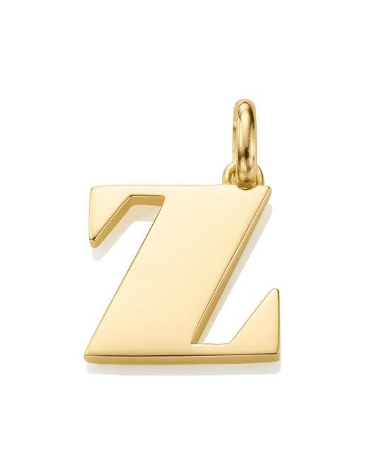 Monica Vinader - Metallic Alphabet Z Pendant Charm - Lyst