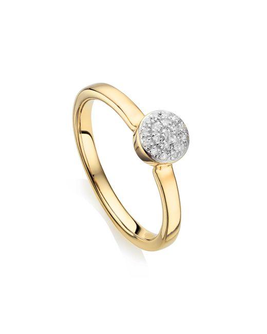 Monica Vinader - Metallic Fiji Mini Button Stacking Ring - Lyst